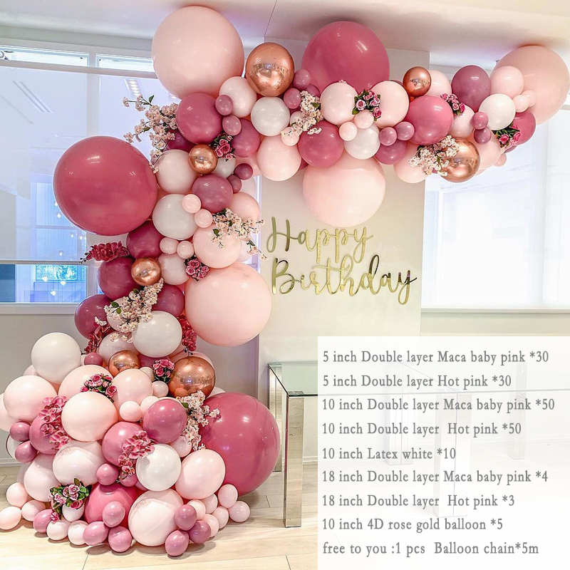 350pcs Macaron Pastel Latex Balloon Garland Kit Retro