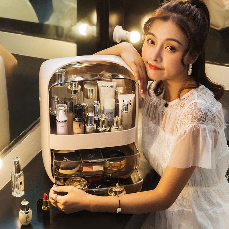 Модный новый органайзер для макияжа, вместительный водонепроницаемый и пыленепроницаемый ящик для хранения косметики в ванной комнате, На...