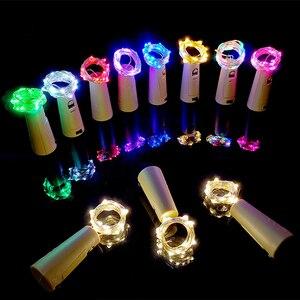 Image 2 - Rượu Chuỗi Đèn Cổ Tích Ánh Sáng Nút Chai Đèn Dây Đồng Dây LED Vòng Hoa Đèn Trang Trí Đám Cưới Tiệc Lễ Hội Giáng Sinh