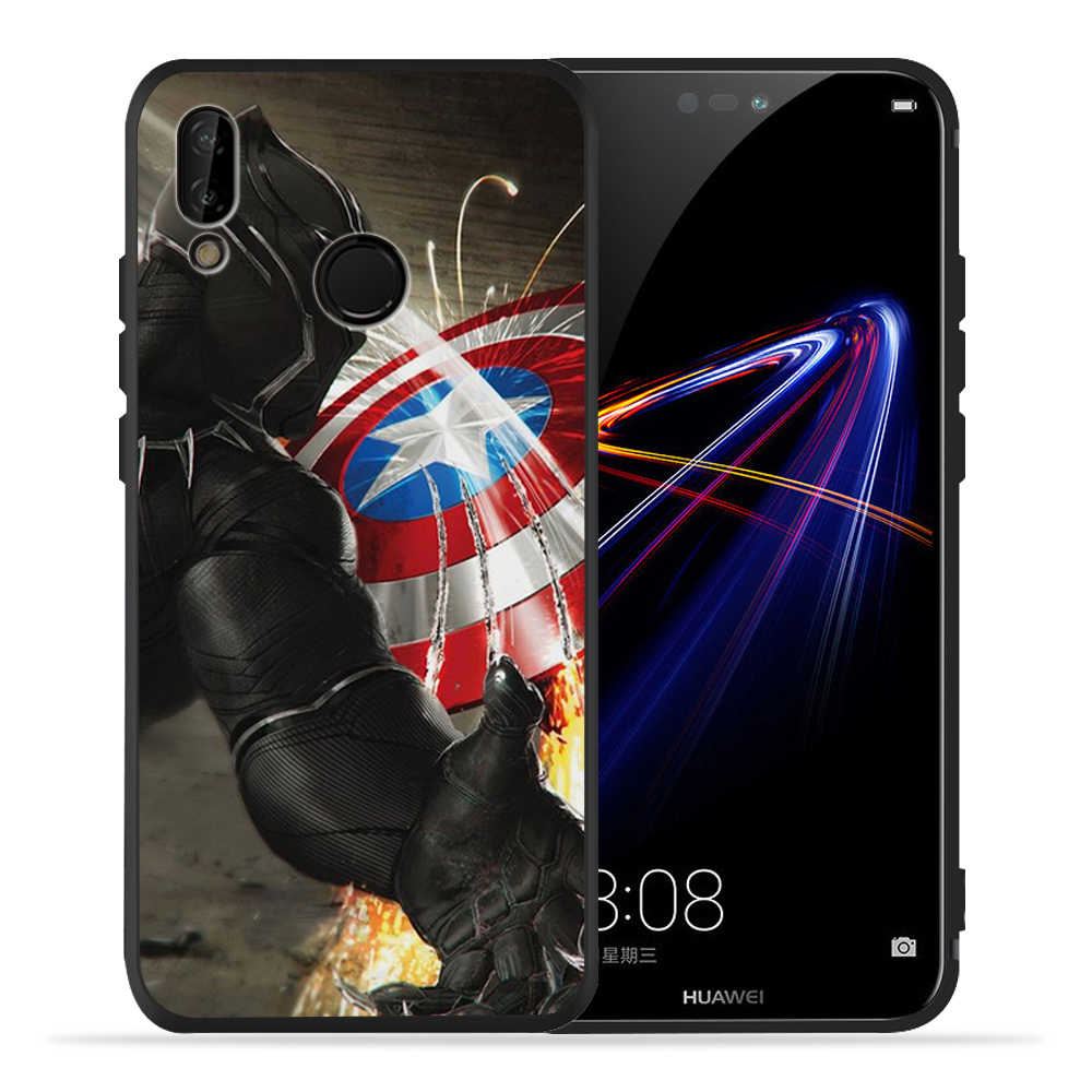 Marvel Avengers Iron Man Spiderman Joker Nero Del Telefono Per Huawei honor 8 9 10 Lite honor 9X20 Pro P smart caso molle Della Copertura Etui