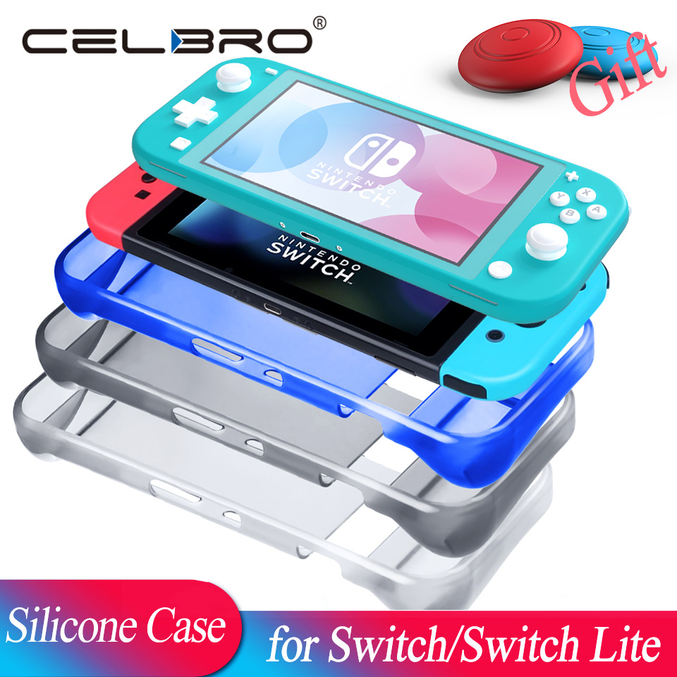 Soft Silicone Case for Nintend Switch Lite Case for Nintendo Switch NS Lite Accessories Coque Protector Cristal Clear Protection(China)