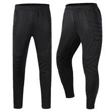 Футбольные штаны, облегающие трикотажные защитные длинные брюки, Профессиональные штаны вратаря, тренировочные штаны для мужчин