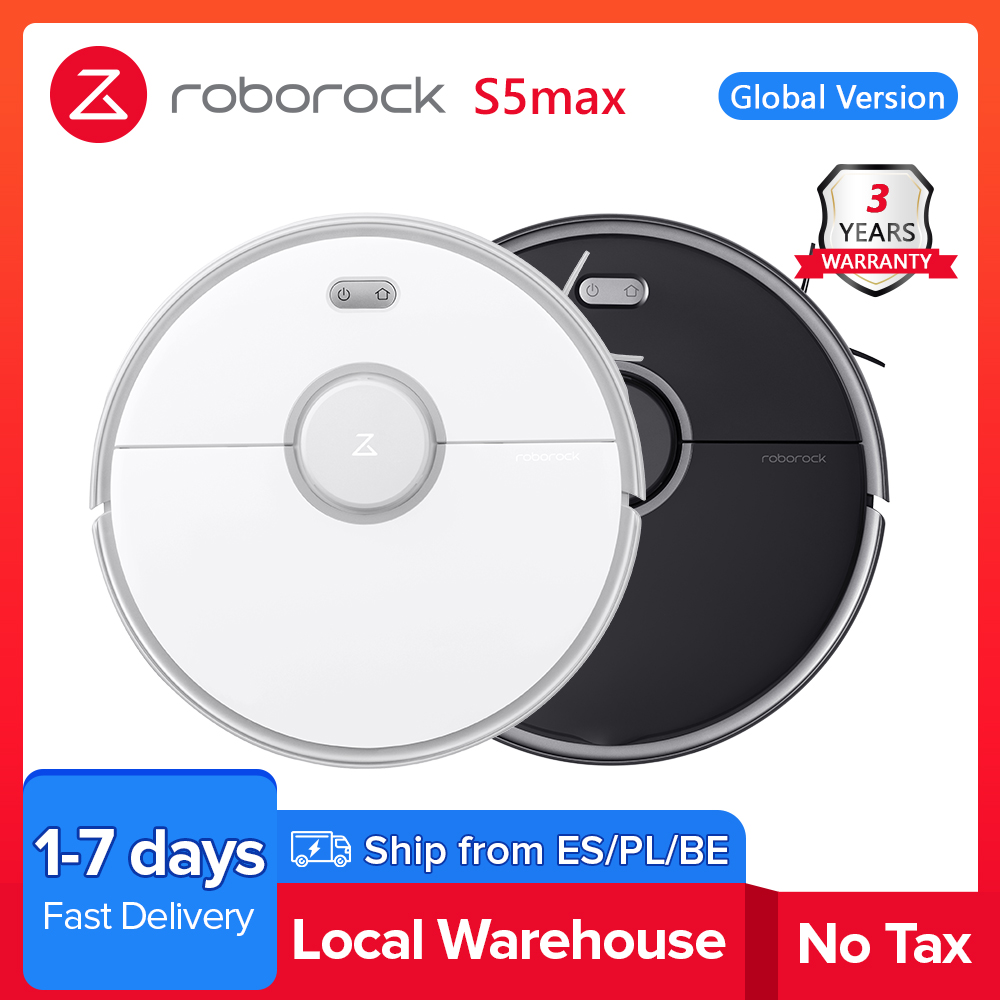Roborock S5 max Vacuum Cleaner Wet Dry Robot Mopping Sweeping Dust Sterilize Smart Planned Wash Mop upgrade for S50 S55|Vacuum Cleaners| - AliExpress