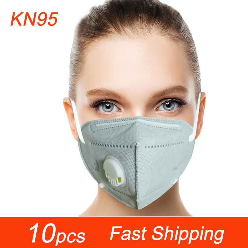 10pcs Face Masks Respirator 6 Layers Breather Valve High Quality Face Masks Mouth-muffle Protective Anti-Pullotion Masks