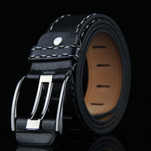 Mens Leather Smooth Girdle Buckle Waistband Business Popular Low-profile Stylish Decoration Soft Elastic Belt(China)