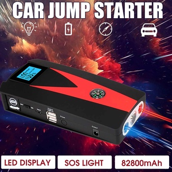 12V 82800/99900mAh Portable Car Jump Starter Booster Battery Charger USB Charger Emergency Power Car LED For Starting Device