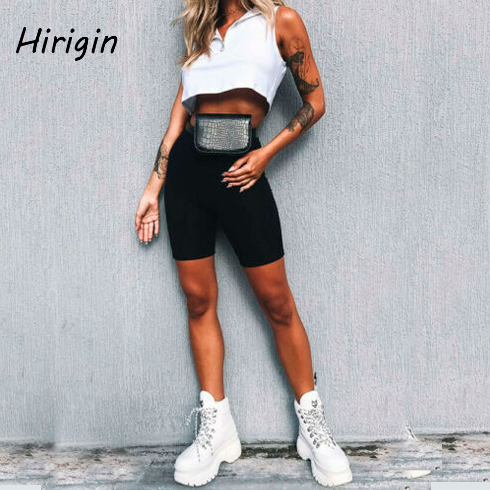 Women Sexy Sport Shorts Black Bodycon Slim Biker Short Trousers High Waist Jogger Hot Shorts Workout Gym Shorts 2020 Fashion