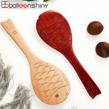 Tableware Wooden Scoop Rice-Spoon Steak Kitchen Balleenshiny Cutlery Beef-Spatula Eco-Friendly