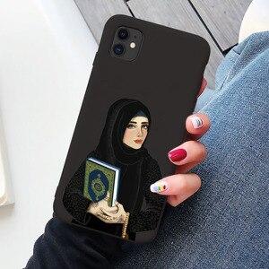 Image 3 - Luksusowa kobieta korona hidżab twarz muzułmanin islamski Gril oczy pokrywa etui na telefony dla Iphone 11 Pro Max X 6S 7 8 Plus XR XS MAX SE 2020