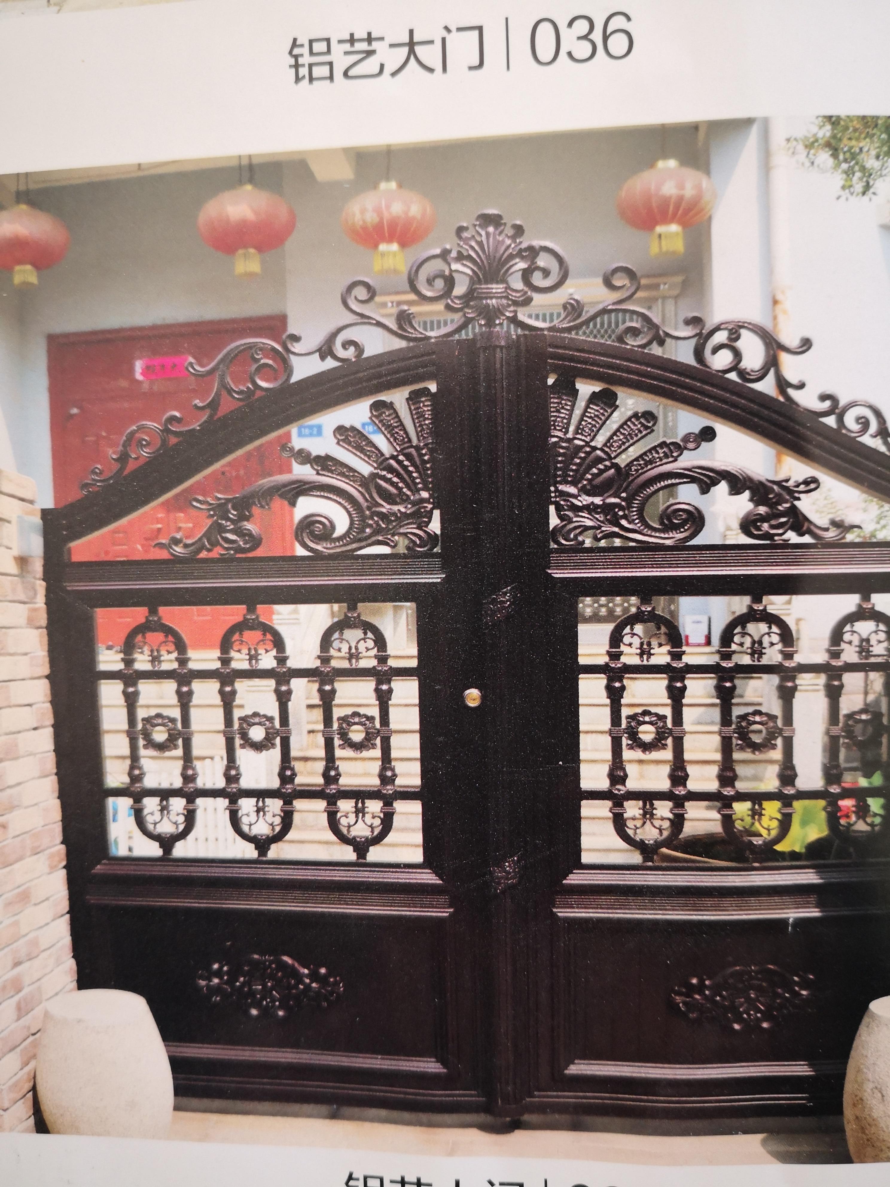 Shanghai Hench  Custom USA Australia Home Use Decorative Aluminum Sliding Gate
