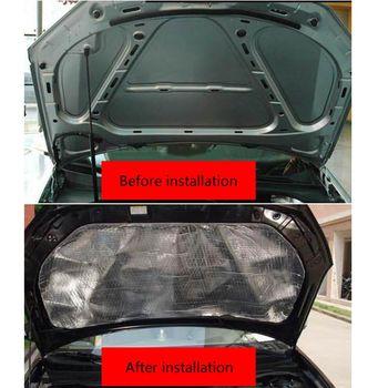 Mata pochłaniająca dźwięk do samochodu hałas maska izolacyjna osłona silnika naklejka Q9QD tanie i dobre opinie CN (pochodzenie) Kaptur Aluminum Foil Fiberglass Made of Composite Foam 140x100cm