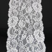 (3 metros/lote) 17cm elástico blanco tela de encaje francés hueco ropa interior elástico recorte de encaje DIY