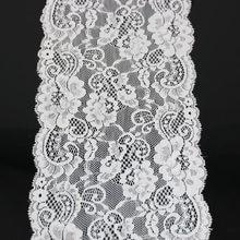 (3 metri/lotto) 17 centimetri bianco elastico del merletto del Tessuto Francese biancheria intima cava pizzo elasticizzato Cornice FAI DA TE