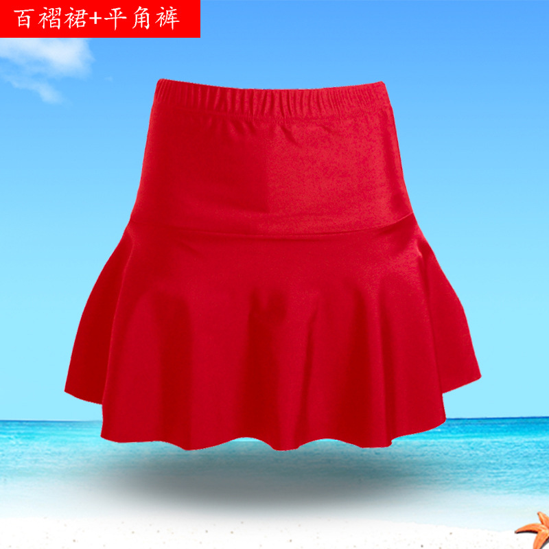2019 Free Shark New Style Women's Pleated Skirt With Boxers Soft And Comfortable Moisture Wicking Swimming Culottes