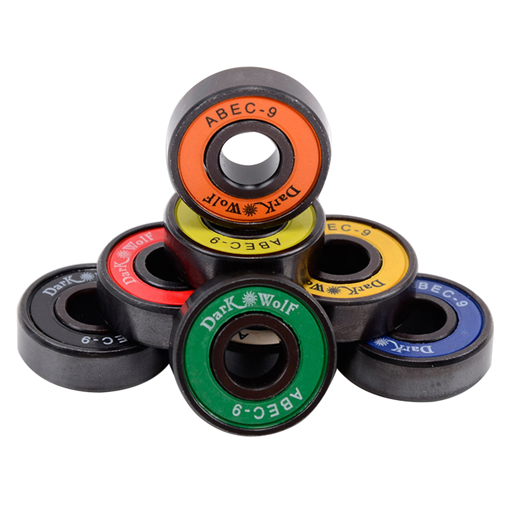 Pack Of 8 Premium Skateboard Bearings Pro Longboard Bearings 608 ABEC Skateboard Trucks Wheels Bearings