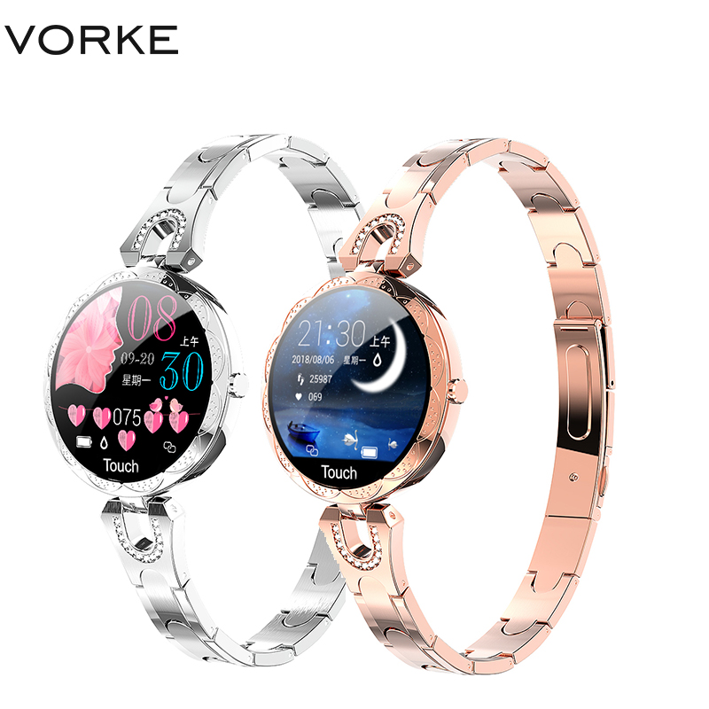Vorke VM4 montre intelligente de luxe femmes 2019 nouvelles dames de mode étanche pression artérielle sang Bluetooth Fitness Tracker Bracelet