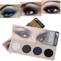 Farres smoky eyeshadow palette 4 colors earth nude blue grey purple pigment waterproof long lasting matte eyeshadow powder AM137