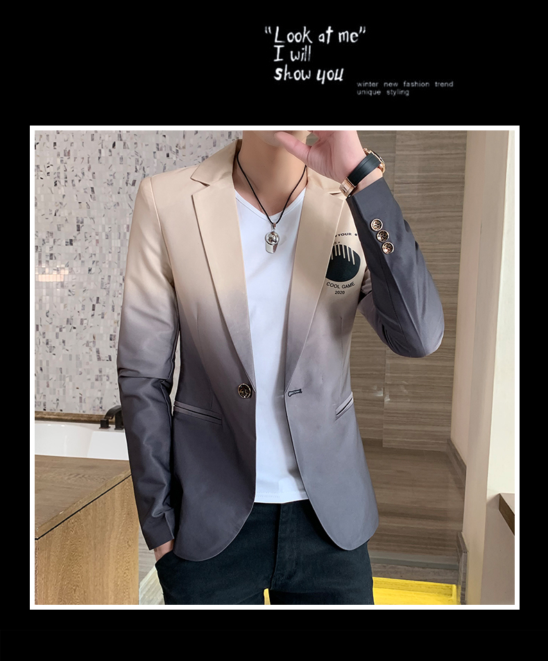 H7f06f7e7850c4d999abf1cf6c76de73fk - Male Gradient Blazer Masculino 2020 Spring Autumn Korean Style Blazer For Men Suit Jacket Casual Wedding Business Clothing