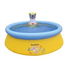 Household Large Cartoon Animal Paddling Pool Water Jet Round Inflatable Swimming Pool Playing Toy Pool Slide Pool Swimming Pool