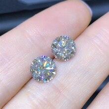 2 adet 5mm IJ renk 0.5 karat lab Grown Moissanite taş mükemmel yuvarlak kesim VVS1 gevşek elmas halka malzemesi kadın hediye için