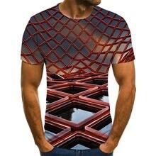 Летняя новая футболка с 3d принтом Мужская коротким рукавом