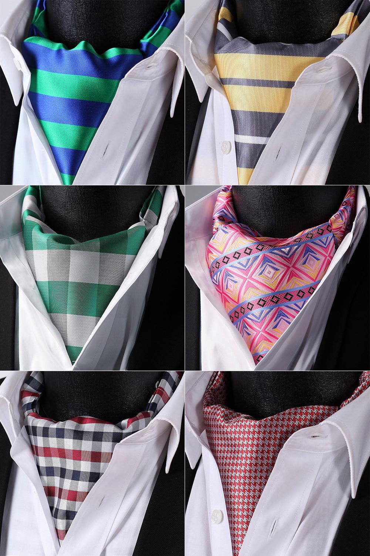 HISDERN Check Striped Cravat Woven Classic Men's Necktie Green Black #RCL Wedding Party