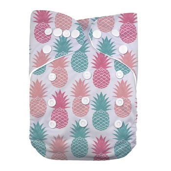 LilBit Baby Girl New Printed Design Reusable Washable Pocket Cloth Diaper недорого