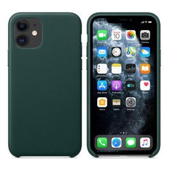 Original Ultra-Thin Leather Case Cover Skin Protective Shell for Iphone 11 Pro Max Pine Green Phone Case for IPhone 11 Pro Max