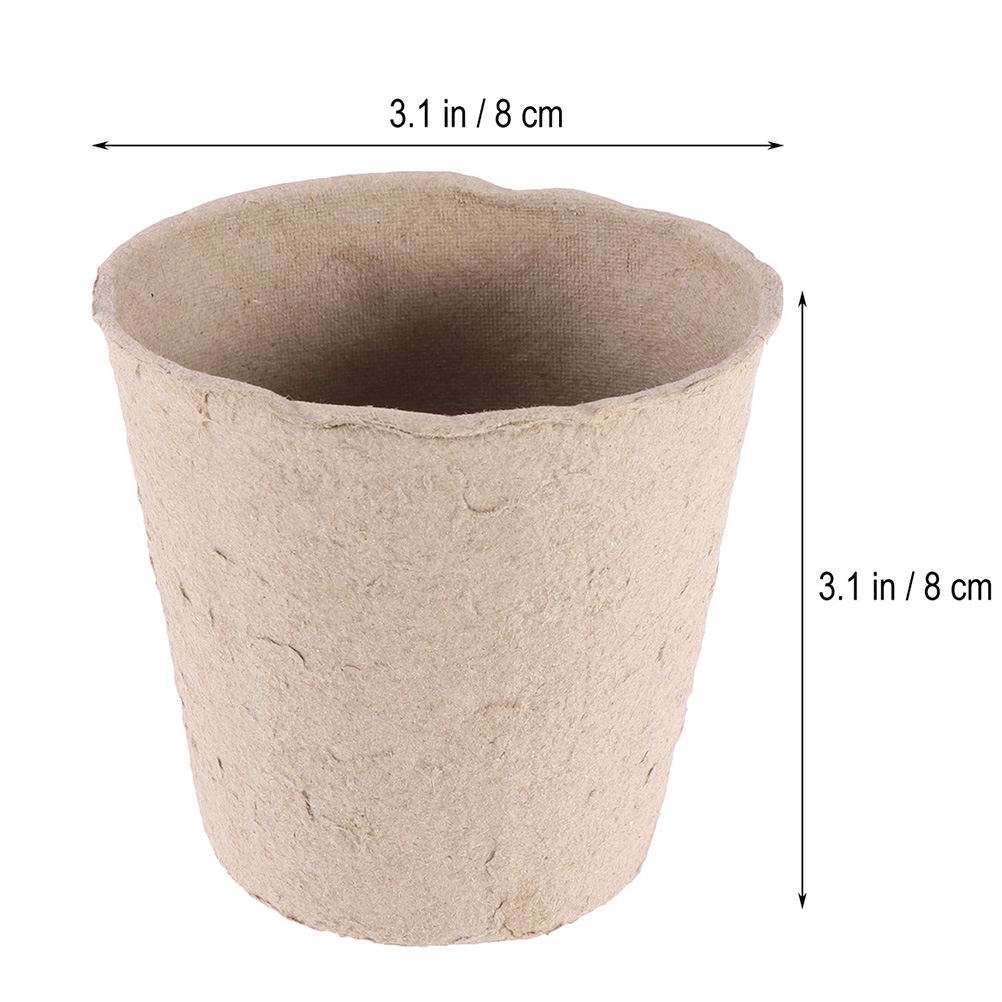 "50Pcs 2.4/"" Eco Friendly Gardening Pot Nursery Plant Seeding Cups"