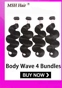 H7f07b5303eac44a0941d19a73a56c8b5H MSH Hair Brazilian Body Wave Human Hair Weave Bundles With 4*4 Lace Closure 130% Density Non Remy
