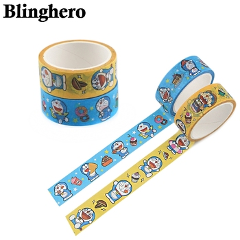 CA1368 Doraemon Anime Washi Tape Cartoon Decorative Adhesive Tape Masking Tape For Stickers Scrapbooking DIY Stationery Tape winzige 15mm 3m washi tape diy planner decorative masking tape stickers scrapbooking bullet journal stickers cute stationery