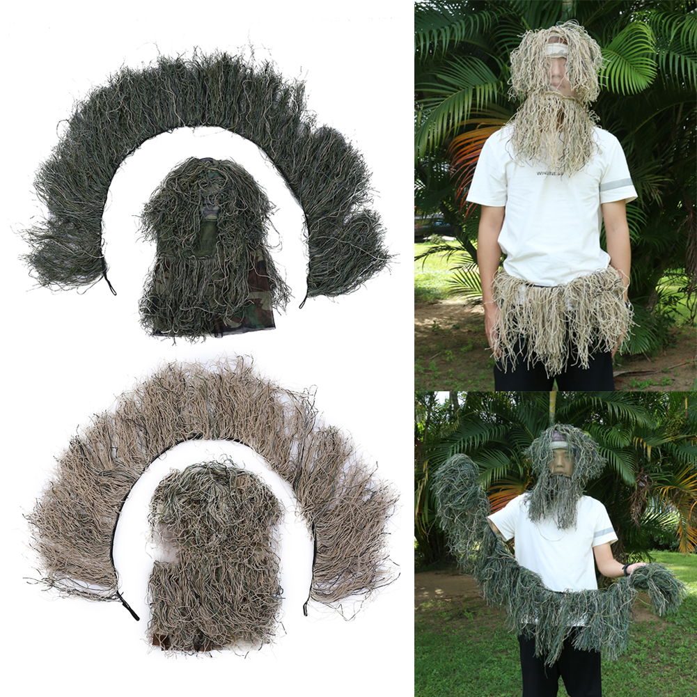Paintball Chasing Clothing Hunting Grass Type Camouflage Rifle Wrap Rope Gun Stuff Cover Hat for Chaser Tall Pople