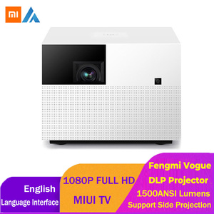 Image 1 - Xiaomi Fengmi Vogue DLP Projector 1500ANSI Lumens 2GB 32GB MIUI TV Smart Home Theater Projector Support Side Projection