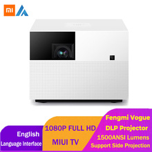 Xiaomi Fengmi Vogue proyector DLP 1500 lúmenes ANSI 2GB 32GB MIUI TV Smart proyector de cine en casa de apoyo Lado de proyección