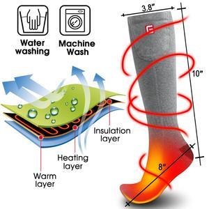 Image 4 - Inverno Unisex Riscaldata Calzini e Calzettoni con Elettrico Kit Batteria Ricaricabile per Cronicamente Piedi Freddi Termico Caldo di Lavoro A Maglia di Cotone Sox