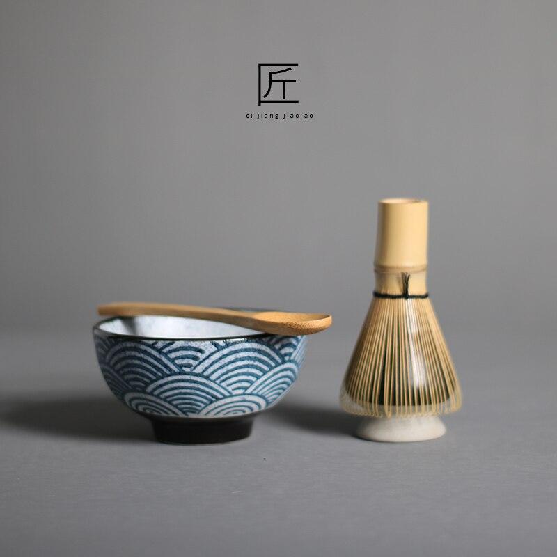 4 шт./компл. традиционный матча подарочный набор бамбука веничек для чая «маття» scoop ceremic чаша для маття держатель японский чайный сервиз
