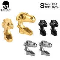 Casvort 2 шт. туннели для ушей 316L нержавеющая сталь, Висячие Сережки для пирсинга динозавр диаметры для ушей ювелирные изделия с расширителем дл...