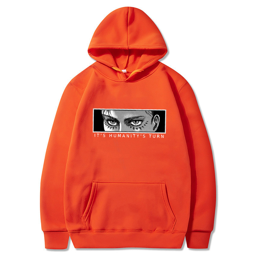 Anime Attack on Titan Hoodie Eren Yeager Print Classic Sweatshirts Funny Cartoon Harajuku Womens Mens Hip Hop Streetwear Jacket 13