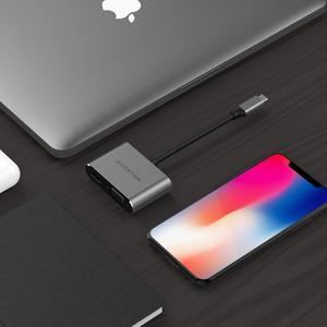 Image 3 - USB C 4K HDMI 및 VGA 듀얼 디스플레이 디지털 AV 어댑터 2018 2019 MacBook Air 및 iPad Pro, MacBook Pro (Thunderbolt 3), XPS 13