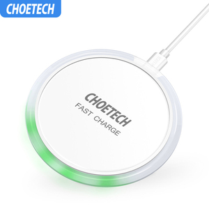 Image 1 - CHOETECH Wireless Charger 10W For Samsung Galaxy S9 S8 S7 Edge Qi USB Wireless Charging Pad 7.5W For iPhone X 8 XS Max