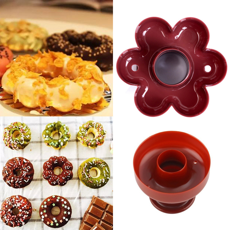 Donut-Mold Cutter Cake-Mould Baking-Tools-Accessories Doughnut Bakery Food Sweet DIY title=