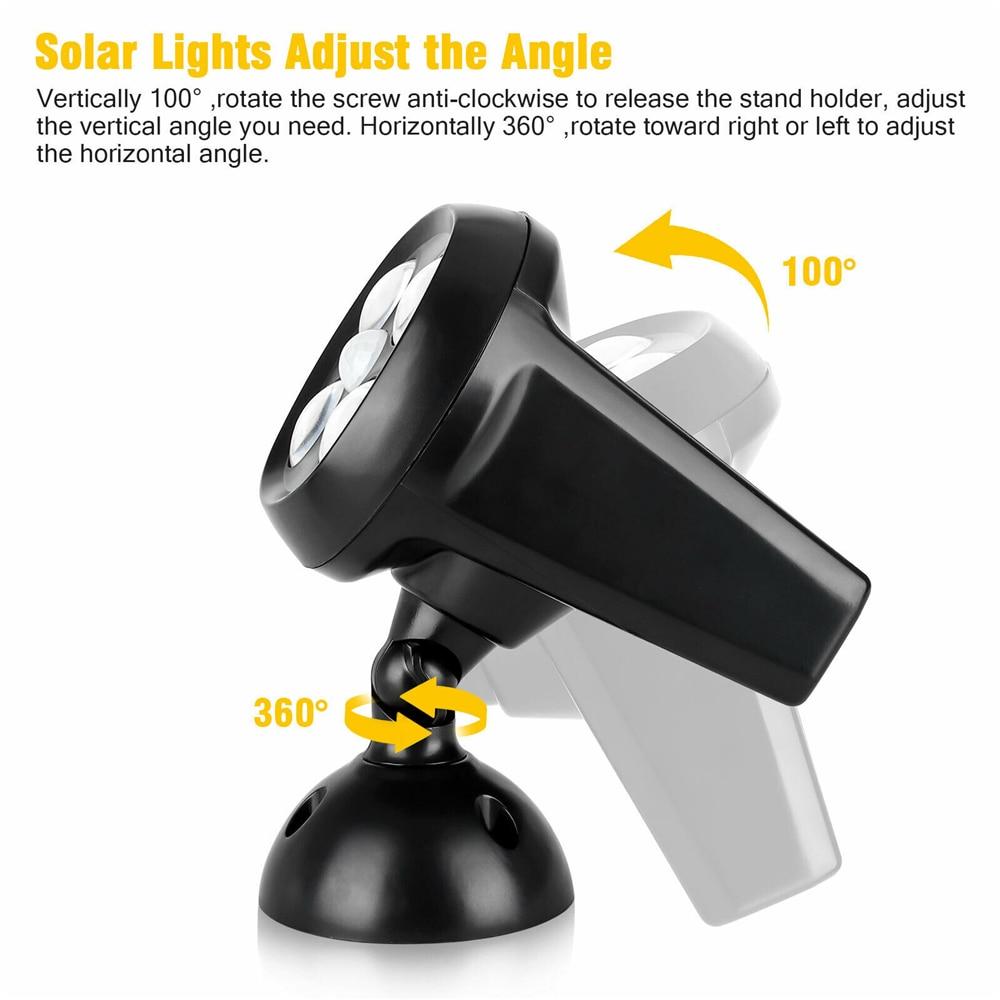 parede solar 360 graus detector movimento luzes