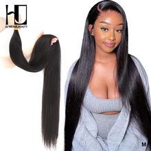 Feixes de tecer cabelo brasileiro em linha reta remy cabelo 36 38 40 Polegada feixes de cabelo humano 1/3/4 pçs extensão do cabelo duplo desenhado natural
