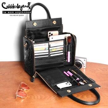 Cobbler Legend Brand Luxury Genuine Leather Women Handbag Shoulder Crossbody Bag women Bag Large Capacity Tote Designer Ladies P цена 2017