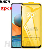 5pcs protector glass on redmi note 10 pro 9pro 8pro  glass tempered glass for xiaomi note 10s 10pro pro max note10 screen glass