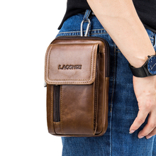 Pouch Bags Belt-Bag Fanny-Pack Travel Crossten Small Male Genuine-Leather