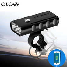 Waterproof Bike Light Accessories Front USB Rechargeable Safety Headlight Rotation 3 LED Outdoor Night Bicycle Aluminum Alloy(China)