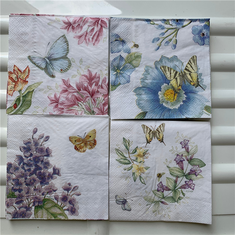 4 Different Single Lunch Paper Napkins for Decoupage Party Moroccan Style z-31