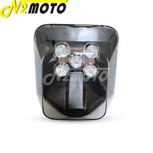 Image 2 - Supermoto LED Headlight For Hus FE 250/350/450/501 TE 150/250/300 250i/300i 2017 2019 Off Road MX Enduro Dual Sport Head Light