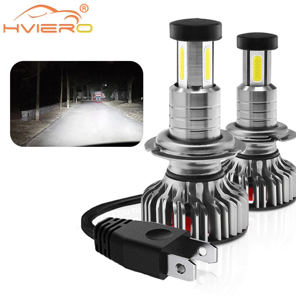 Auto Nebel Licht LED Scheinwerfer Kit H7 H11 9005 9006 9012 Plug & Play 360 Grad Turbo Kühlen Fan IP70 kopf Lampe Blinker Licht 6000k